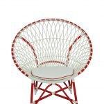 เก้าอี้หวายเทียม Merlyn Chair-Red White