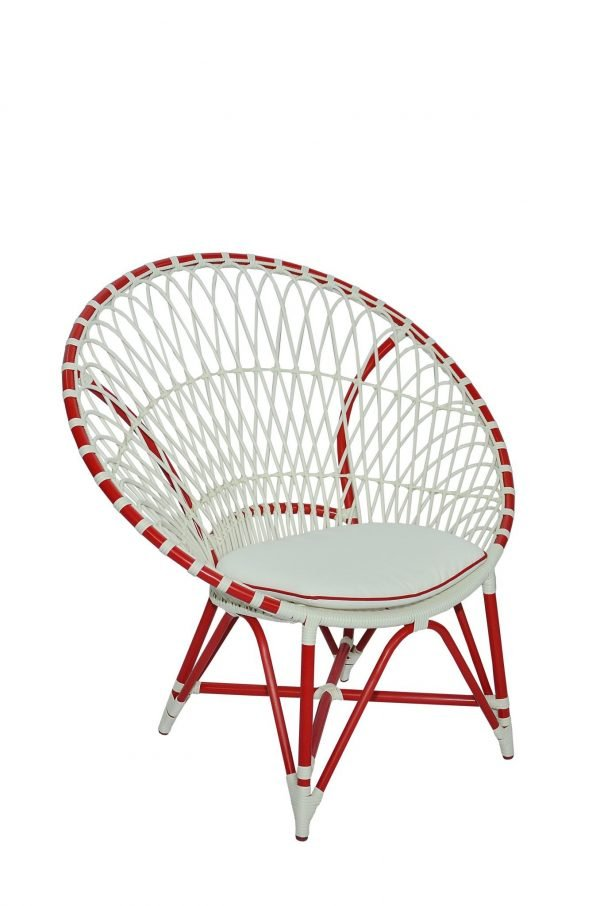 Merlyn Chair-Red White