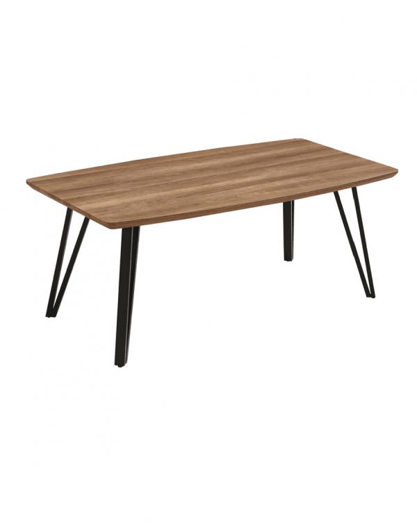 CT343 โต๊ะกาแฟ MDF 110cm หัวโค้ง