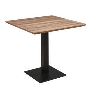 Oak Brown Square 80x80 MDF Dining Table