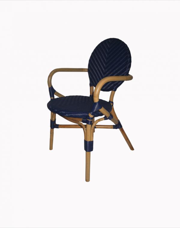 Dayak Bistro Chair - Blue 2