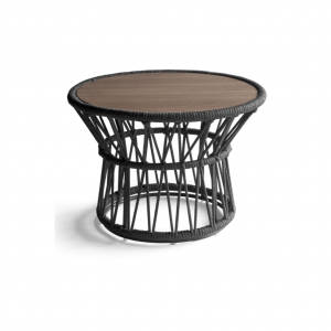 Drum Side Table L - Charcoal